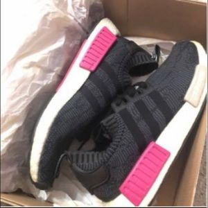 Shoes - black and pink nmds